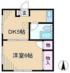 矢野ビル[1階]の間取り