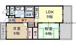 サンサーラ21[603号室号室]の間取り