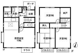JR京浜東北・根岸線 磯子駅 バス11分 広町下車 徒歩5分の賃貸一戸建て 1階3LDKの間取り