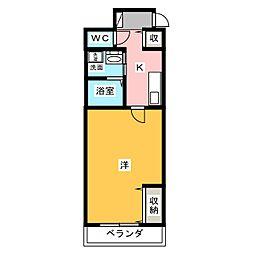 まきの木館うたり[1階]の間取り