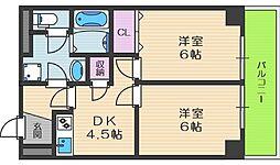 ジオナ天神橋[4階]の間取り