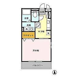 トップヒルイシヤマ[105号室]の間取り