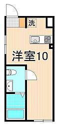 アヤセ212 1階ワンルームの間取り
