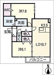 仮)フルーティーVI[2階]の間取り