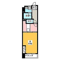 POWERHOUSE the residence 4階1DKの間取り