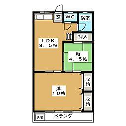 森商ビル[3階]の間取り