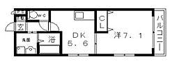 ピアノメゾン[3階]の間取り
