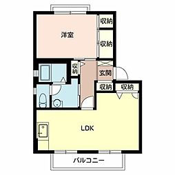 JR山陽本線 明石駅 バス12分 バス停下車 徒歩3分の賃貸アパート 1階1LDKの間取り