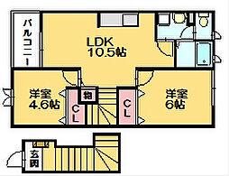 モンターニャII[2階]の間取り