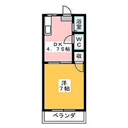 ビーフリーML−B[1階]の間取り