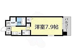 Osaka Metro千日前線 桜川駅 徒歩10分の賃貸マンション 3階1Kの間取り