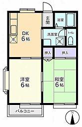 東京都調布市飛田給3丁目の賃貸マンションの間取り