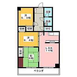 ヴァンヴェール71番館1号棟[6階]の間取り