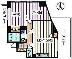 埼玉県さいたま市桜区田島5丁目の賃貸マンションの間取り