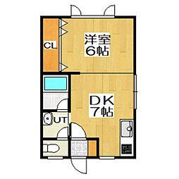 ハイツJUN[1階]の間取り
