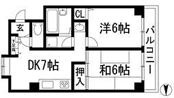 イースガーデン[1階]の間取り