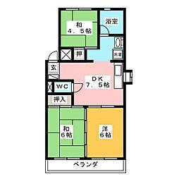 ダイヤマンション[1階]の間取り