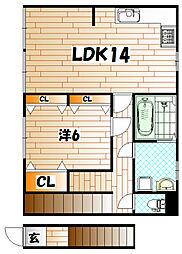 [一戸建] 福岡県北九州市小倉北区片野4丁目 の賃貸【/】の間取り