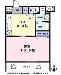 プレジールカネノ[1階]の間取り