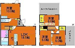 [一戸建] 岡山県岡山市中区原尾島丁目なし の賃貸【/】の間取り