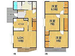 [タウンハウス] 兵庫県西宮市段上町2丁目 の賃貸【/】の間取り