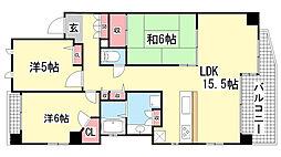 ルイシャトレ新神戸スイーツ[3F号室]の間取り