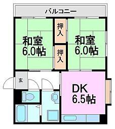 ロイヤルプラザ園田[3階]の間取り