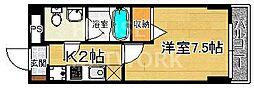 Luxe(リュックス)智恵光院[302号室号室]の間取り