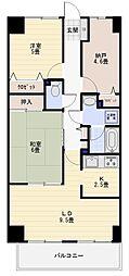 神奈川県横浜市金沢区釜利谷東2丁目の賃貸マンションの間取り
