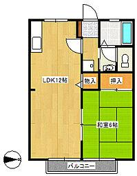 サンガーデン藤原B[2階]の間取り