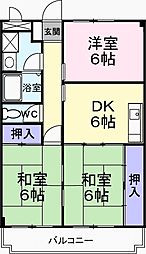 メゾン松茂[2階]の間取り