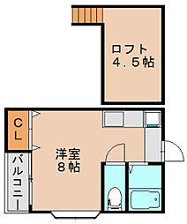 モンシャンブル[2階]の間取り