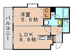 ゼロマクト[6階]の間取り