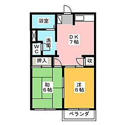 ティアラ7[2階]の間取り