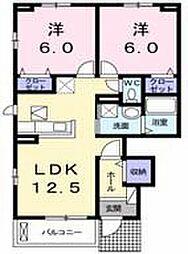 ノーブルハウス八幡ーB[101号室]の間取り