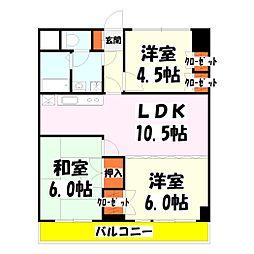 竹の塚ロジュマン[8階]の間取り