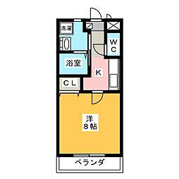 エスペランサ穂並[1階]の間取り
