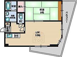 ビアン緑地2[4階]の間取り