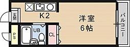 OTOWAマンション[102号室号室]の間取り