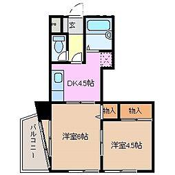小畑マンション[2階]の間取り