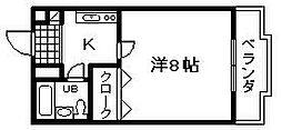 ボ・ヌール岸和田[2階]の間取り