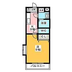 コートリーII[2階]の間取り