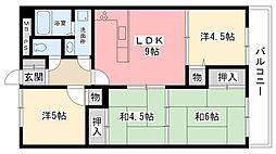 ラ・フォーレ夙川[402号室]の間取り