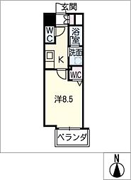 仮)千種区東山通一丁目プロジェクト 7階1SKの間取り