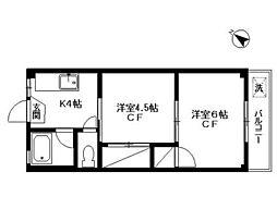 葵マンション[102号室]の間取り