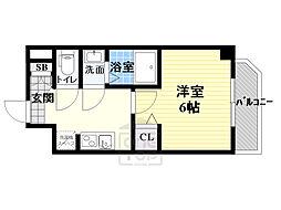 Osaka Metro長堀鶴見緑地線 蒲生四丁目駅 徒歩2分の賃貸マンション 2階1Kの間取り