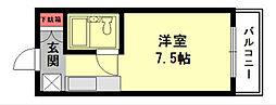 アートシティ小波瀬[206号室]の間取り