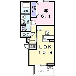 JR阪和線 北信太駅 徒歩5分の賃貸アパート 3階1LDKの間取り