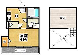 Park Terrace Koshigaya[203号室]の間取り