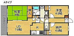 deuxローズレイア[4階]の間取り